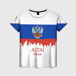Футболка женская Altai: Russia цвета 3D-принт — фото 1