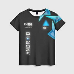 Женская футболка Detroit: Android RK800