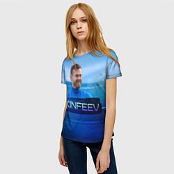 Футболка женская Akinfeev цвета 3D — фото 2