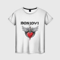 Футболка женская Bon Jovi цвета 3D — фото 1