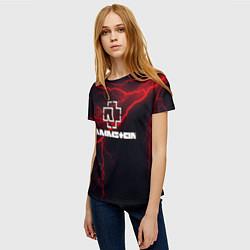 Футболка женская Rammstein цвета 3D-принт — фото 2