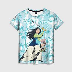 Футболка женская Mulan with a Sword цвета 3D — фото 1