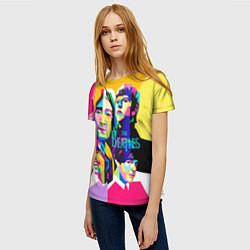 Футболка женская The Beatles: Poly-art цвета 3D-принт — фото 2