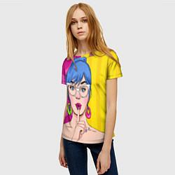 Женская 3D-футболка с принтом POP ART, цвет: 3D, артикул: 10076903903229 — фото 2