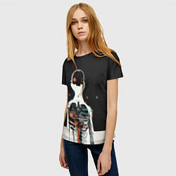 Футболка женская Three Days Grace: Skeleton цвета 3D — фото 2