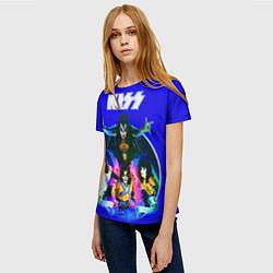 Футболка женская Kiss Show цвета 3D — фото 2
