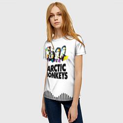 Футболка женская Arctic Monkeys: Music Wave цвета 3D — фото 2