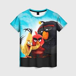 Женская 3D-футболка с принтом Любящие птицы, цвет: 3D, артикул: 10092032603229 — фото 1