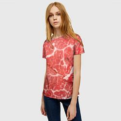 Футболка женская Кусок мяса цвета 3D — фото 2