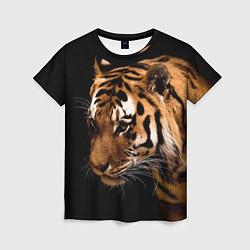 Футболка женская Тигрица цвета 3D — фото 1