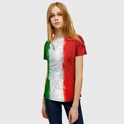 Футболка женская Italian цвета 3D-принт — фото 2