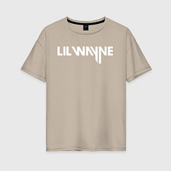 Футболка оверсайз женская Lil Wayne цвета миндальный — фото 1
