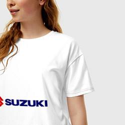 Футболка оверсайз женская Suzuki цвета белый — фото 2