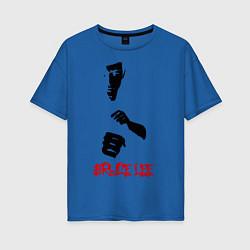 Футболка оверсайз женская Bruce Lee цвета синий — фото 1