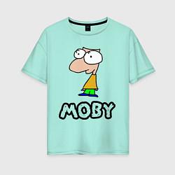 Футболка оверсайз женская Moby цвета мятный — фото 1