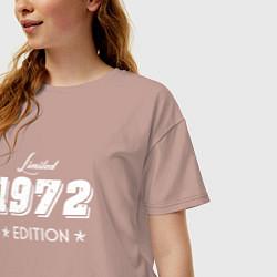 Футболка оверсайз женская Limited Edition 1972 цвета пыльно-розовый — фото 2