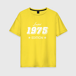 Футболка оверсайз женская Limited Edition 1975 цвета желтый — фото 1
