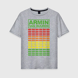 Футболка оверсайз женская Armin van Buuren: EQ цвета меланж — фото 1