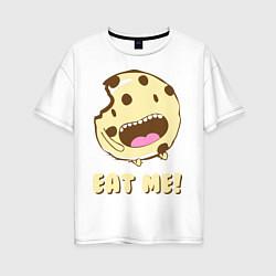 Футболка оверсайз женская Cake: Eat me! цвета белый — фото 1