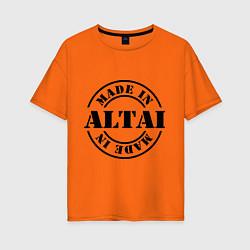 Футболка оверсайз женская Made in Altai цвета оранжевый — фото 1