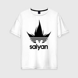 Футболка оверсайз женская Saiyan цвета белый — фото 1