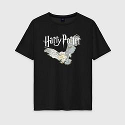 Футболка оверсайз женская Гарри Поттер: Букля цвета черный — фото 1