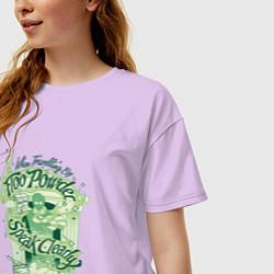 Футболка оверсайз женская Гарри Поттер цвета лаванда — фото 2
