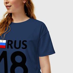 Футболка оверсайз женская RUS 18 цвета тёмно-синий — фото 2