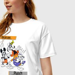 Футболка оверсайз женская Have you seen Pluto? цвета белый — фото 2