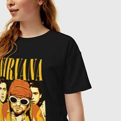 Футболка оверсайз женская Nirvana цвета черный — фото 2