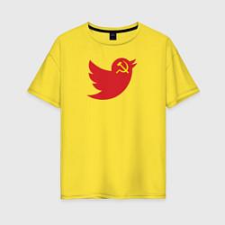 Футболка оверсайз женская Team Trump цвета желтый — фото 1