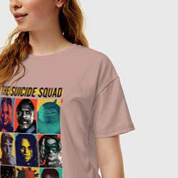 Футболка оверсайз женская The Suicide Squad цвета пыльно-розовый — фото 2
