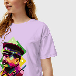 Футболка оверсайз женская Stalin Art цвета лаванда — фото 2