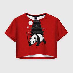 Футболка 3D укороченная женская Panda Warrior цвета 3D — фото 1
