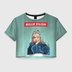 Футболка 3D укороченная женская Billie Eilish цвета 3D — фото 1