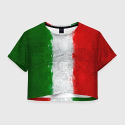 Футболка 3D укороченная женская Italian цвета 3D — фото 1