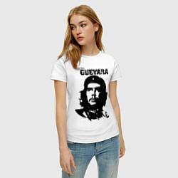Футболка хлопковая женская Che Guevara цвета белый — фото 2