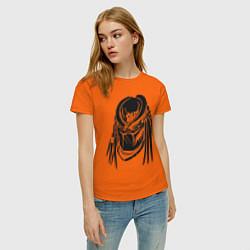 Футболка хлопковая женская Хищник цвета оранжевый — фото 2