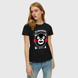 Футболка хлопковая женская Kumamon цвета черный — фото 2