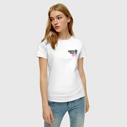 Футболка хлопковая женская Dream Team logo цвета белый — фото 2