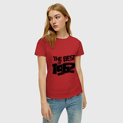 Футболка хлопковая женская The best of 1962 цвета красный — фото 2