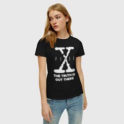 Футболка хлопковая женская X-Files: Truth is out there цвета черный — фото 2