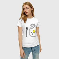 Футболка хлопковая женская Соль: для нее цвета белый — фото 2